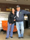 Malden Food Drive Coodinator Alice Mackin and Former Food Drive Coordinator and recently Retired Letter Carrier Ralph Fiore