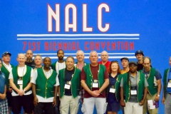 Branch #34 Delegates pose for a photo prior to the start of the 71st NALC Biennial Convention in Detriot, MI.