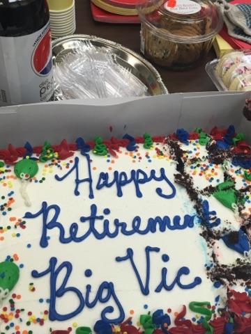 Dorchester's Vic Dapsys' Retirement Cake