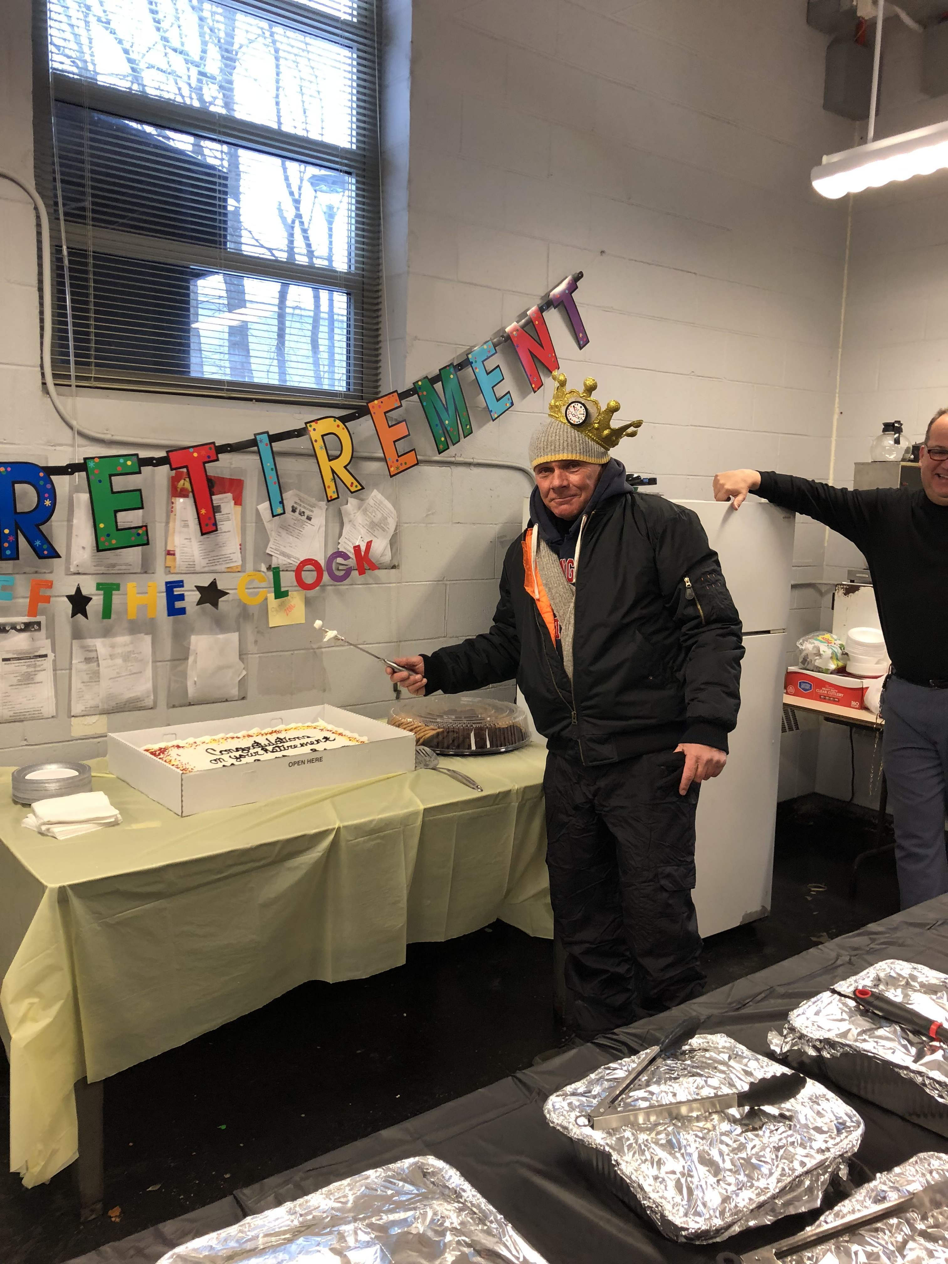 Malden Carrier's know how to throw a retirement party.