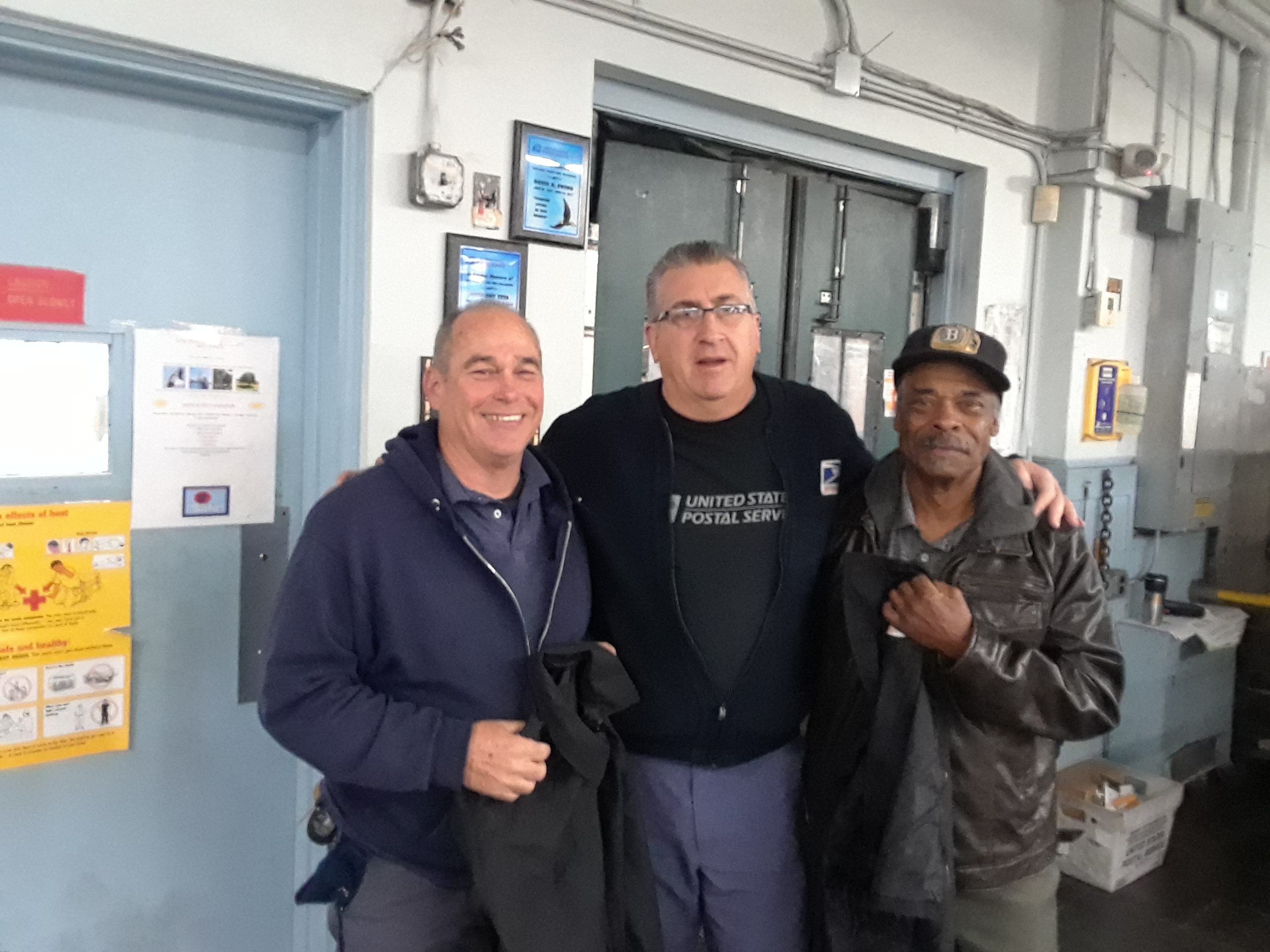 30-plus year Members Jeff Corbett (l) and Steve Bowden pose with Medford Streward Steve White on their last day, October 31st.