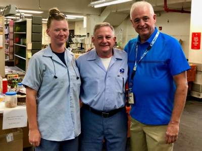 North Quincy Shop Steward Taylor Brooks & Financial Secretary Bobby Damatin wish Eddie Healy a great retirement!