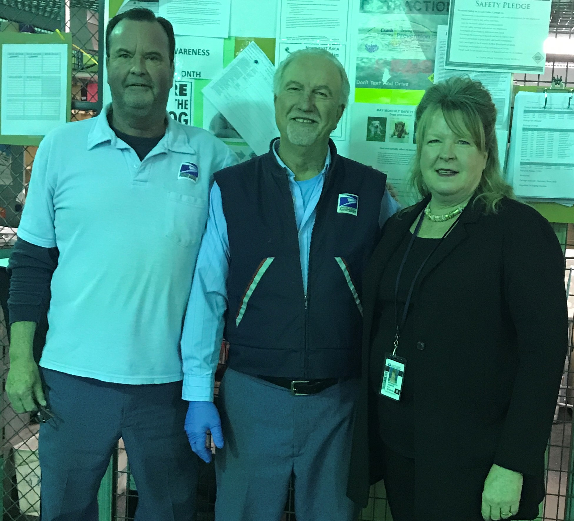 Shop-Steward-Brian-Senior-and-VP-Bernadette-Romans-with-Retiree-Charlie-Hamos