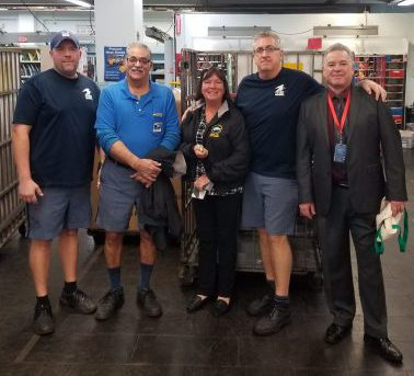 Medford's Newly Retired Peter Petrella and Susan Clancy are joined by Shop Steward Steve White & President Jerry McCarthy