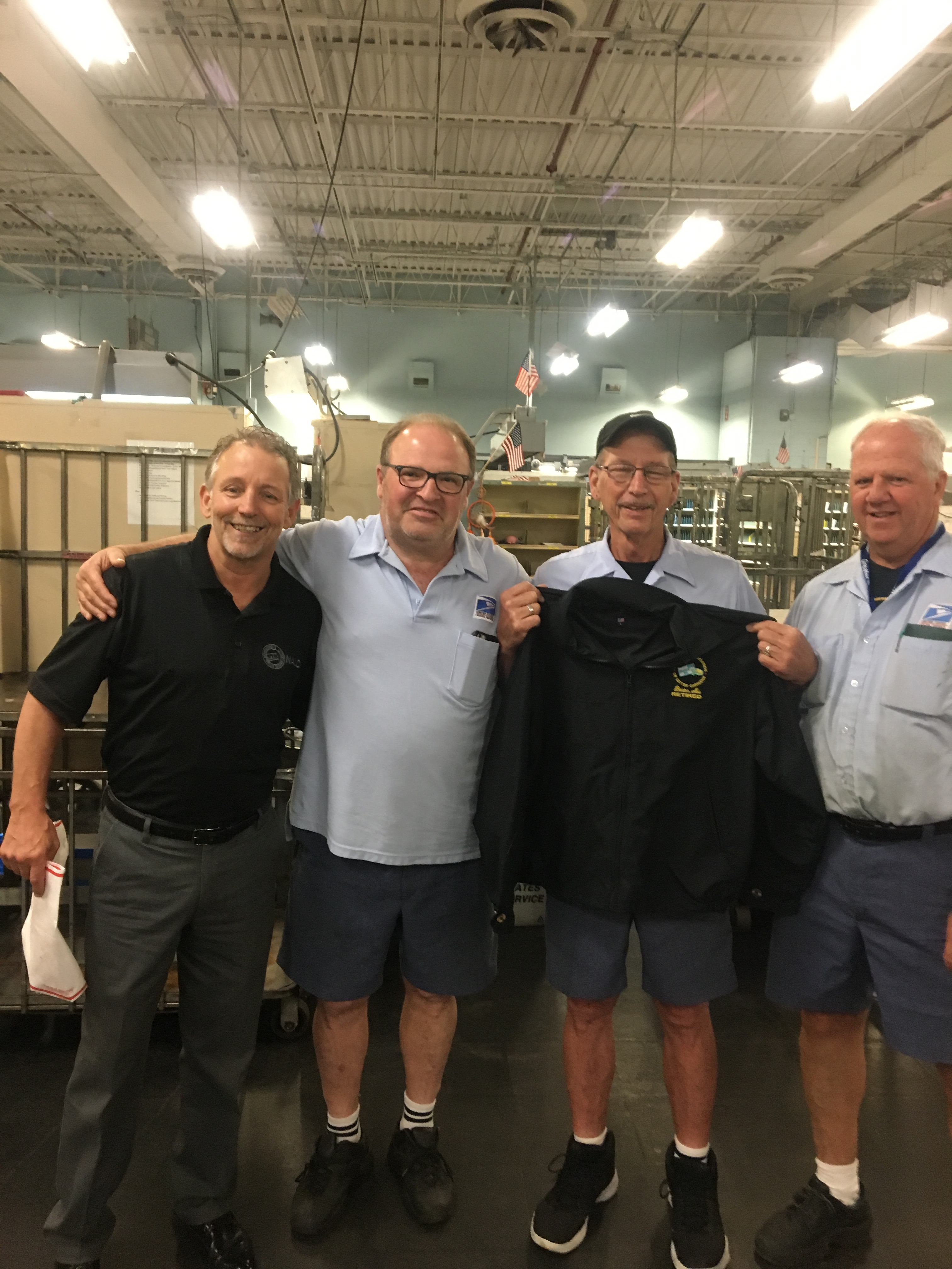 Newly Retired Woburn Member Richie Collins with Mike Yerkes and Stewards Vigo Conte and Fred Casey.