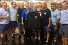Newly Retired Everett Member Steve DiRoberto poses with Branch President Mike Yerkes and IMC Co-workers.